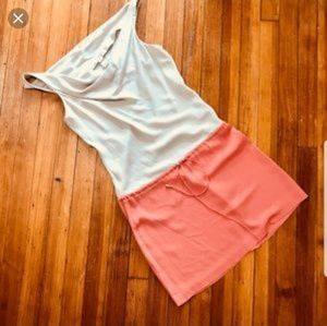 Diane von furstenberg silk colorblock mini dress
